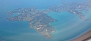 Waiheke from plane window